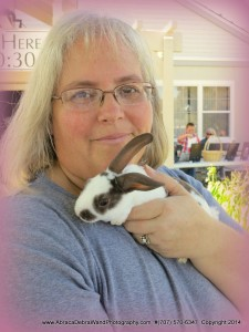 Bev with bunny